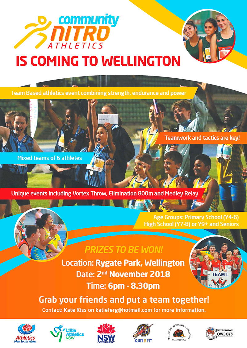Community Nitro Athletics is coming to Wellington